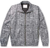 Noon Goons Logo-Embroidered Snake-Print Shell Track Jacket