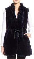 Vince Camuto Drawstring Waist Faux Fur Vest