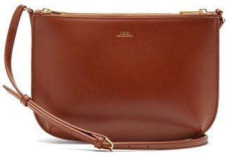 A.P.C. Sarah Smooth-leather Cross-body Bag - Tan