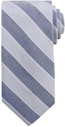 Chaps Men's Hayden Checked Linen-Blend Tie
