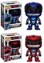 Power Rangers Pop! Vinyl Red and Blue Bobble Head Gift Set.