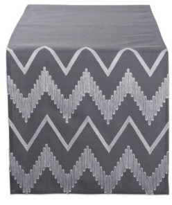 Design Imports Embroidered Chevron Table Runner