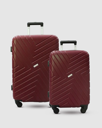 Jett Black Merlot Maze Short Stay Luggage Set