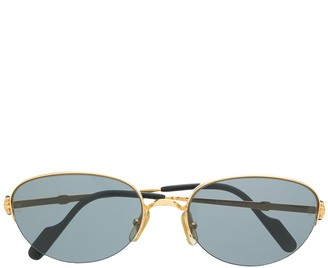 Cartier Pre-Owned Oval-Frame Sunglasses