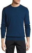 Belstaff Kilnwood Quilted-Panel Sweater, Indigo