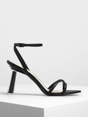 Charles & Keith Criss Cross Sculptural Heel Sandals