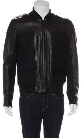 Maison Margiela Leather & Wool Utility Jacket