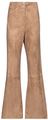 Dorothee Schumacher Velour Softness flared suede pants