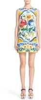 Dolce & Gabbana Tile Print Brocade Shift Dress