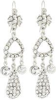 Jose & Maria Barrera Silvertone Crystal Triple-Drop Earrings