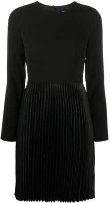 Theory Pleated Crepe Dart Dress