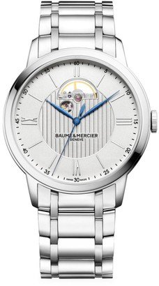 Baume & Mercier Classima Stainless Steel Bracelet Open Balance Aperture Watch