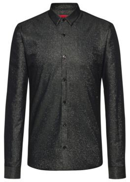 HUGO Extra-slim-fit evening shirt in a cotton blend