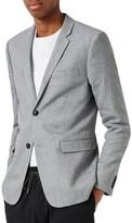Topman Men's Crossweave Texture Skinny Fit Sport Coat