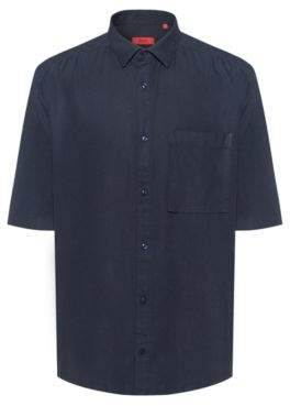 HUGO Relaxed-fit short-sleeved shirt with patch pocket
