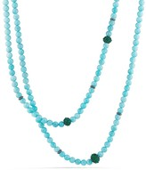 David Yurman Osetra Necklace with Amazonite and Green Onyx