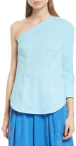 Tracy Reese One-Shoulder Shirttail Blouse