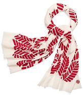 Tory Burch Palmetto Embroidered Oblong Scarf