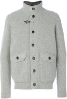 Fay classic fitted coat - men - Polyamide/Polyester/Wool - 48