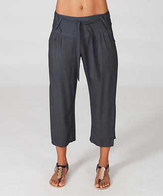 Aller Simplement Women's Casual Pants GREY - Gray Gaucho Pants - Women