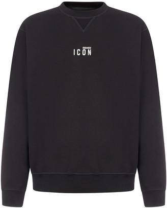 DSQUARED2 Icon Logo Cotton Sweatshirt