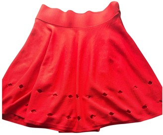 Opening Ceremony Red Viscose Skirts