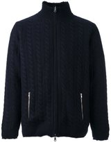 N.Peal lined cable cardigan