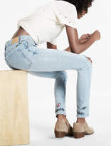 Lucky Brand Bridgette High Rise Skinny Jean With Embroidery