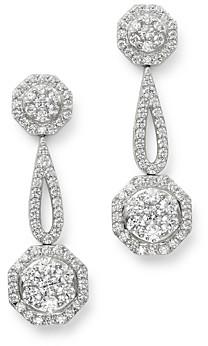 Bloomingdale's Cluster Diamond Geometric Drop Earrings in 14K White Gold, 3.0 ct. t.w. - 100% Exclusive
