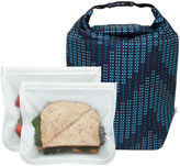 R & E BLUE AVOCADO BlueAvocado Click 'n Go with ReZip Seal Lunch2-Pack