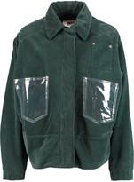 MM6 MAISON MARGIELA PVC-paneled cotton-corduroy jacket