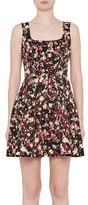 French Connection Midnight Bloom Fit & Flare Dress