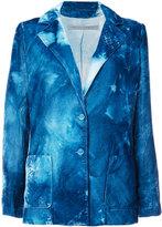Raquel Allegra distressed tie-dye blazer