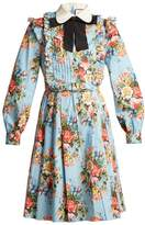 Gucci Josephine-print cotton-blend dress