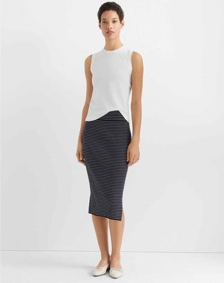 Club Monaco Two-Tone Rib-Knit Skirt