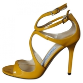 Jimmy Choo Yellow Patent leather Sandals