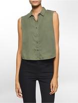 Calvin Klein Garment-Dyed Sleeveless Top