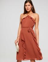 Dotti Frill Halter Neck Midi Dress