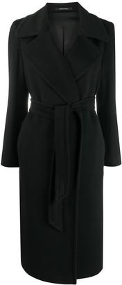 Tagliatore Molly belted cashmere coat