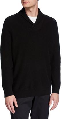 Vince Men's Cashmere Shawl Collar Popover Sweater