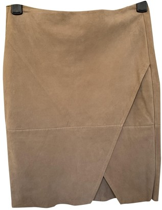 Polo Ralph Lauren Beige Suede Skirt for Women
