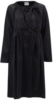 Molly Goddard Sandy Single-breasted Gathered Coat - Black
