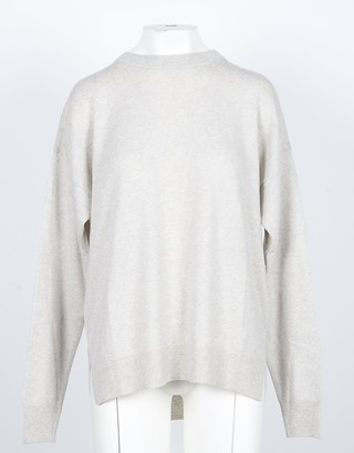 NOW Beige Cashmere and Wool Women's Sweater