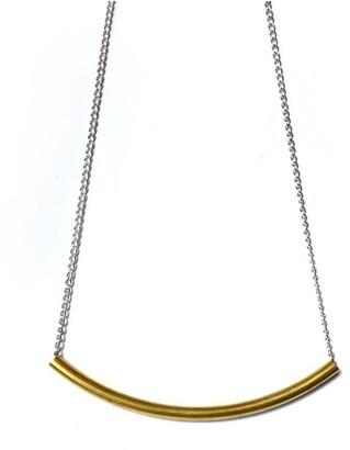 Keegan Curve Necklace [ Brass ] Copper
