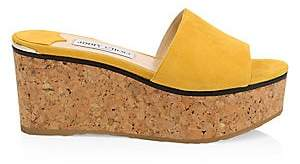 Jimmy Choo Women's Deedee Suede Wedge Sandals