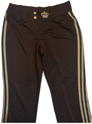adidas Brown Polyester Trousers