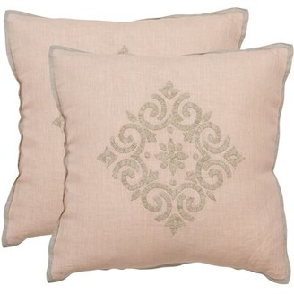 "Safavieh Isola Linen Throw Pillow Size: 20"" H x 20"" W"