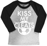 Micro Me Black 'Kiss My Cleats' Raglan Tee - Toddler & Boys
