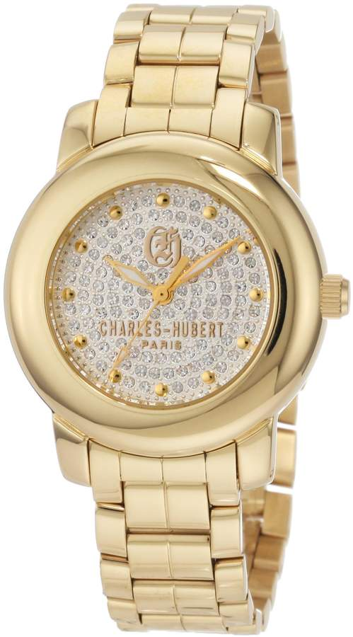 Swarovski Charles Hubert Charles-Hubert, Paris Women's 6786-GM Premium Collection -Plated Stainless Steel Crystal Dial Watch