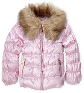 Juicy Couture Girls 4-6x) Pink Faux Fur Trim Jacket